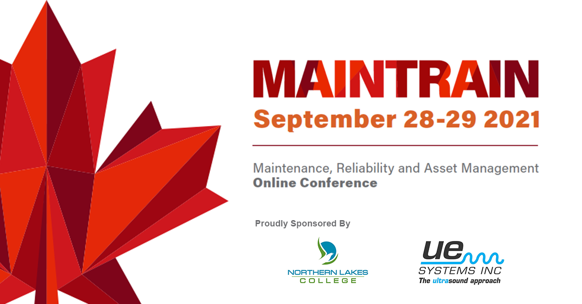 MainTrain 2021 Maintenance Relaibility and Asset Management Conference bannner