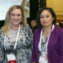 MainTrain conference chair person Justyna Krzysiak and speaker Susan Urra