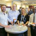 Networking over appies at the Hospitality Suite