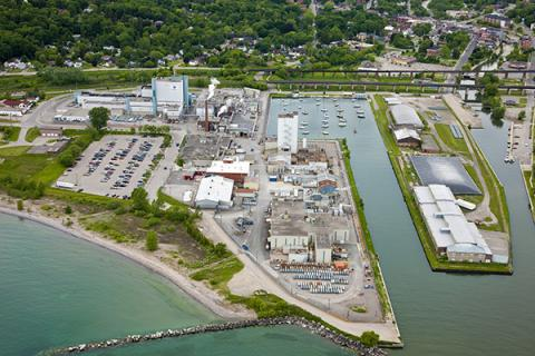 Aerial view of the Port Hope conversion facility.