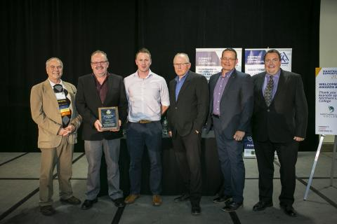 Edmonton Airports - 2019 Maintenance Team of the Year receiving award